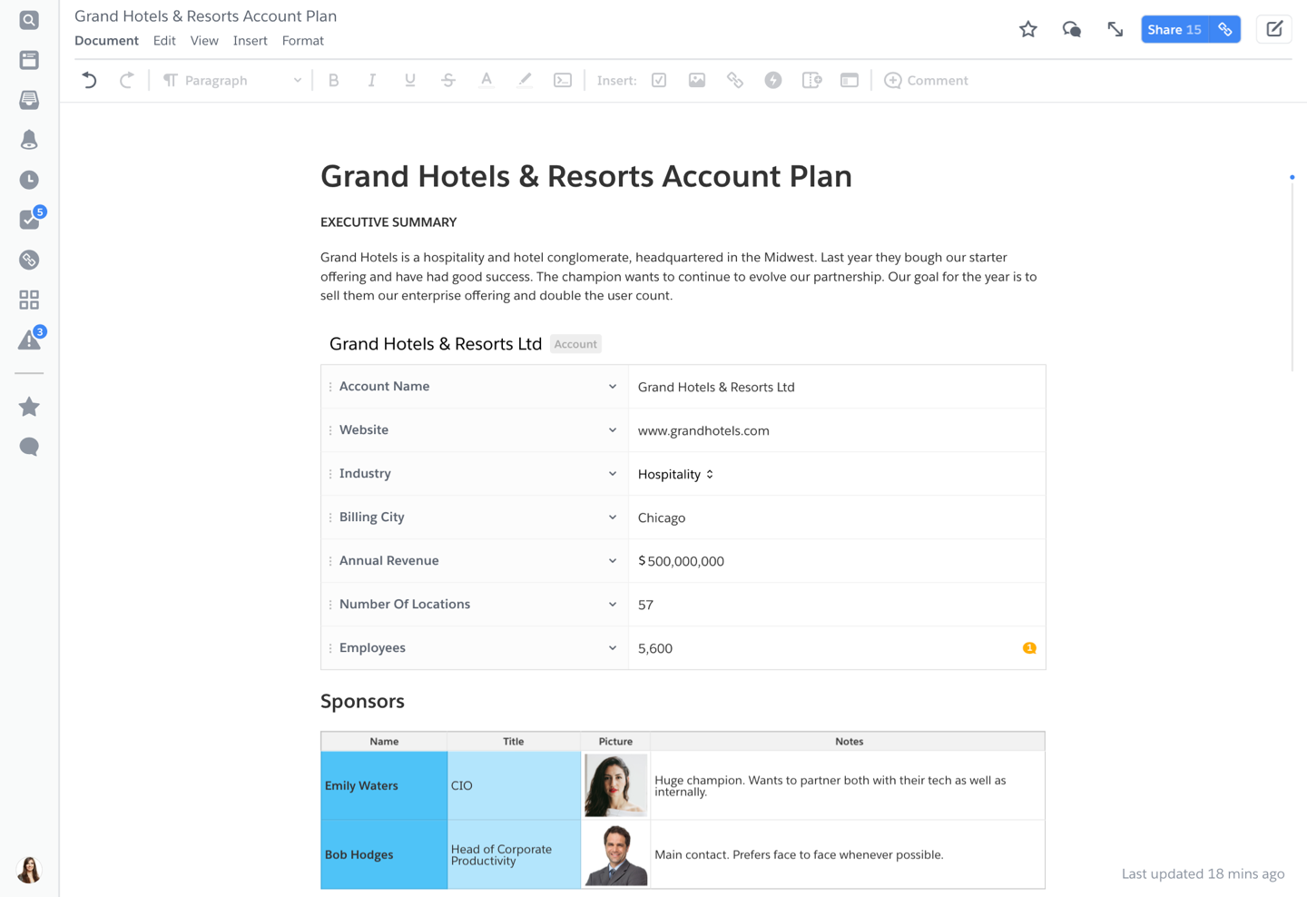 Account Plan Template from quip-marketing.com